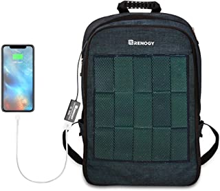 Renogy Solar Panel Powered Backpack Water Resistant Laptop Bag 20L Capacity 5.6W with USB Charging Port Catonic Dyed Polys...