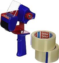 Tesa 57195-00000-00 strong transparant 2 x 66m x 50mm + dispenser, standaard