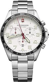 Victorinox Men's Swiss Quartz Watch with Stainless Steel Strap, Silver, 21 (Model: 241856)
