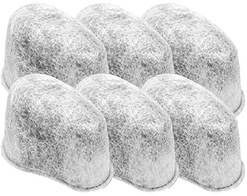 Blendin F47200 Charcoal Water Filters Compatible with Krups Coffeemakers, 6 Pack