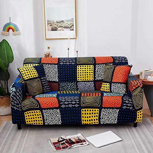Fundas de sofá Protectoras de sofá Floral para Sala de Estar Funda elástica elástica Fundas de sofá seccionales de Esquina A26 1 Plaza