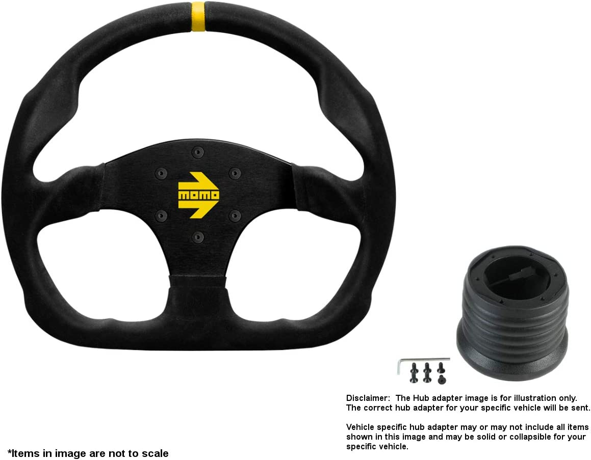 MOMO MOD.30 320mm 12.6 Inches Suede w B 2021new shipping free Steering Brushed Wheel Fixed price for sale