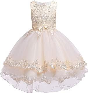 Betusline Girls' Lace Dressy Dress with Belt (3-12 Years)