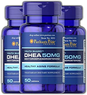 Puritans Pride DHEA (Pack of 3, 50 MG (50 Tabs))