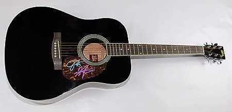 Sugarland Bigger Jennifer Nettles Kristian Bush Group Signed Autographed Full Size Black Acoustic Guitar Loa
