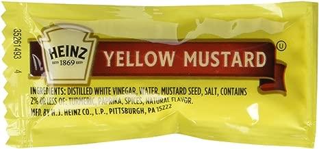 Heinz Yellow Mustard Packets (500 Packets)