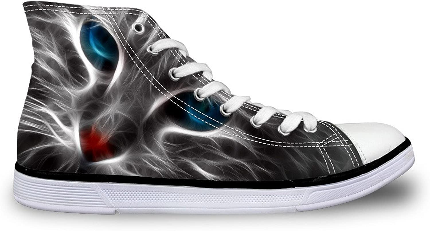 FOR U DESIGNS Black Women Canvas shoes High Top Casual Sneakers for Girls Non-Slip