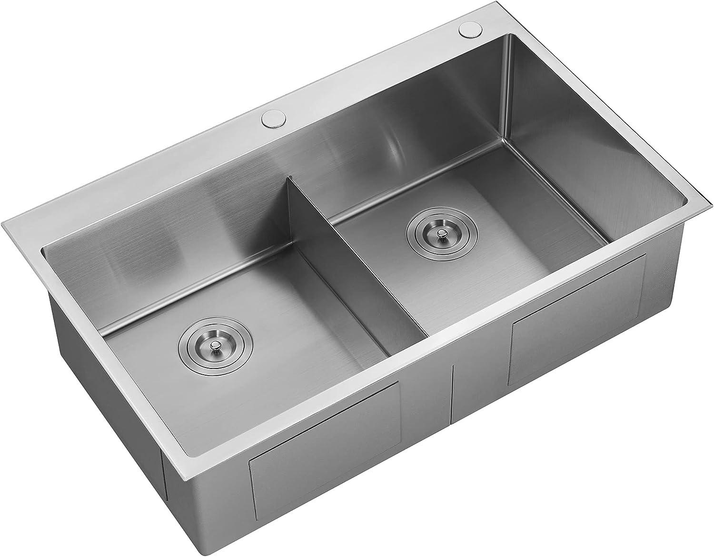 Serene Valley Stainless Steel Great interest Kitchen Finally popular brand Du Deck Sink 36-inch Thick
