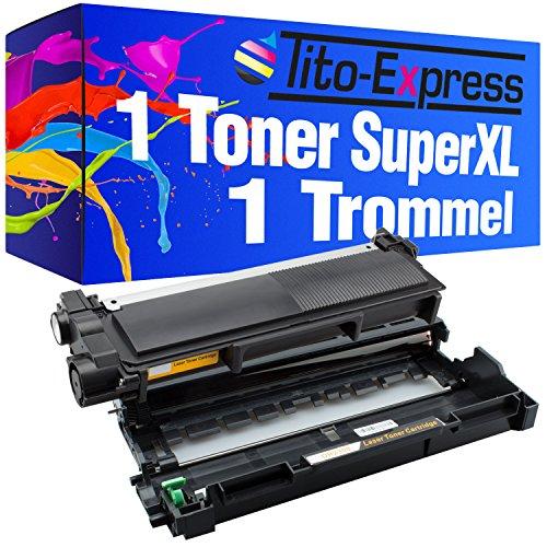 Tito-Express Platinum Serie 1 Toner & 1 Trommel Super-XL compatibel met Brother TN2320 & DR2300 HL-L2300 HL-L2300D HL-L2320D HL-L2321D HL-L2340DW HL-L2360DN HL-L2360DW HL-L2361DN   5.200 pagina's
