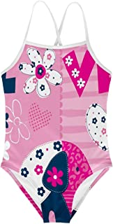 Salabomia Girls Soft Swimwear Floral Holiday Beach 1-Pcs Sleeveless