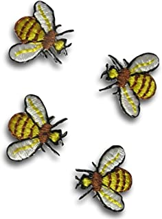 Bee Applique Insect Iron Patch Sew Bee Embroidered Badge Motif Bug 55