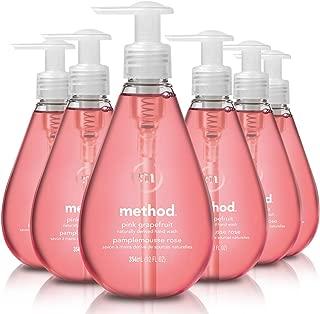 Method Gel Hand Soap, Pink Grapefruit, 12 Fl Oz (Pack of 6)