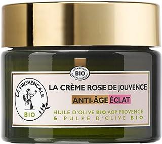 La Provençale Bio - Crème Rose de Jouvence Anti-Âge Éclat Certifié Bio - Huile d'Olive Bio AOP Provence - Pour Tous Types ...