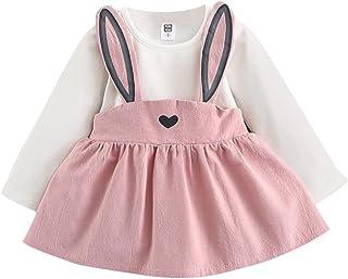 K-youth Vestidos Niña Invierno Cortos, Mono Bebé Niña Lindo Otoño Conejo Vendaje Traje Mini Tutú Princesa Vestido Ropa Beb...