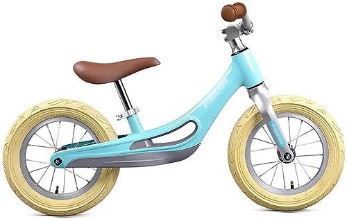 minorista de fitness TONGSH Bicicleta de Equilibrio Equilibrio Equilibrio para Niños y Niños pequeños Bicicleta de Entrenamiento Deportivo sin Pedales para Edades de 2 a 6 años, Marco de aleación de magnesio (Color   azul)  muchas concesiones