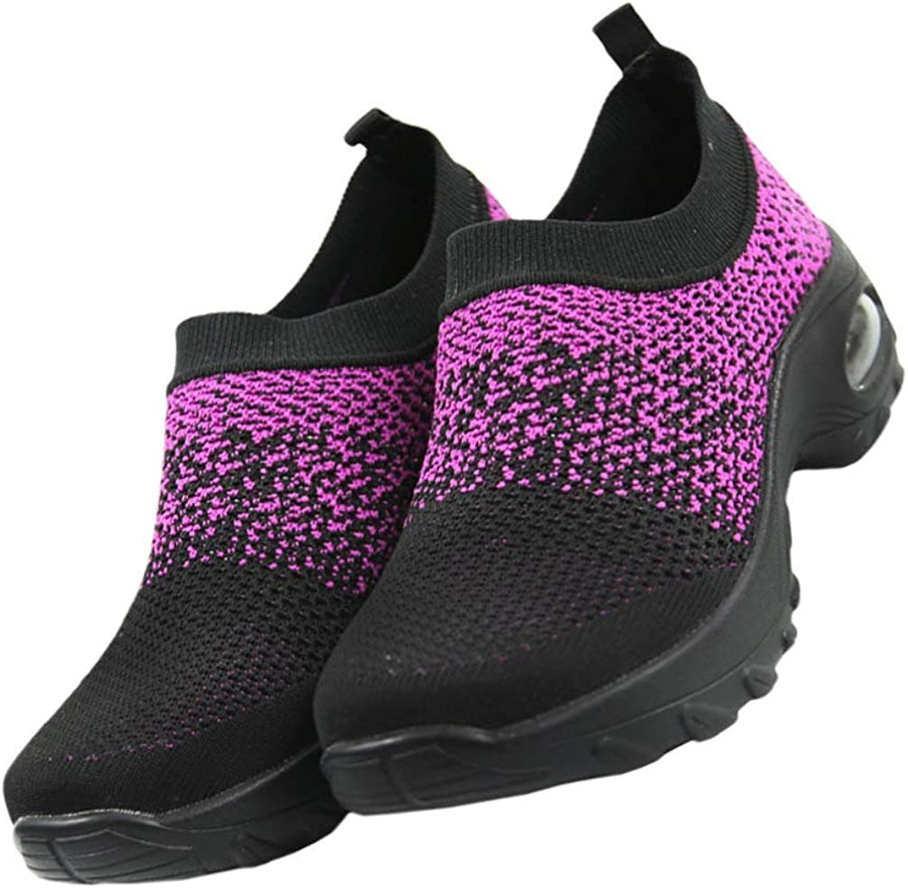 Holibanna Walking Shoes Sock Sneakers Platform Air Cushion Athletic Shoes Breathable Shoes for Lady Girls