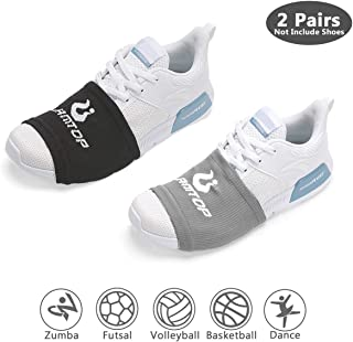 LAMANTOP Shoe Socks for Dancing-Non Slip Compression Socks-Zumba Sole Control Wraps- Over Sneakers Shoe Sliders-Turns to Dance with Style on Wood Floors Smooth Surfaces for Men Women