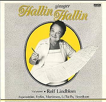 Hallin sjunger Hallin