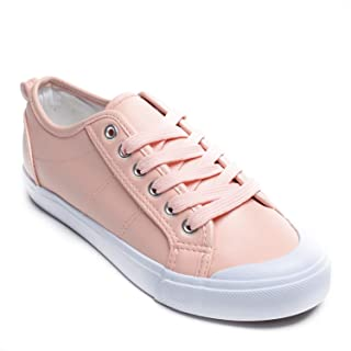 Emma Shoes Crescent Toe Lace-Up Sneakers for Women; Tennis Shoes for Women