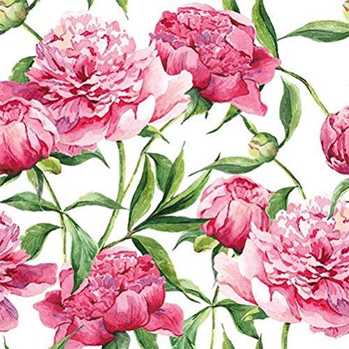 peonie rosa–Everyday 2016- Tat–Confezione da 20tovaglioli–3PLY–33x 33cm