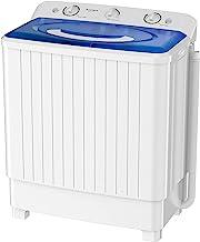 ماشین لباسشویی قابل حمل Auertech ، ماشین لباسشویی جمع و جور مینی ظرفشویی دوقلو 28 پوندی با کنترل زمان تخلیه گرانش داخلی ، ماشین لباسشویی نیمه اتوماتیک 18 پوندی 10 پوندی برای خوابگاه ها ، آپارتمان ها ، RV ها