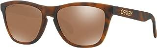 Oakley Frogskins Sunglasses Matte Tortoise with Prizm Tungsten Lens + Sticker