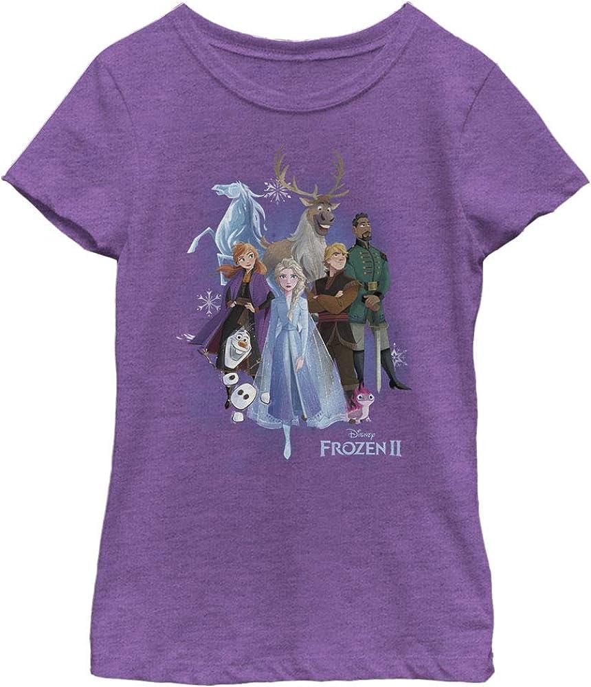 Disney Frozen 2 Group Cloud Girl's Heather Crew Tee