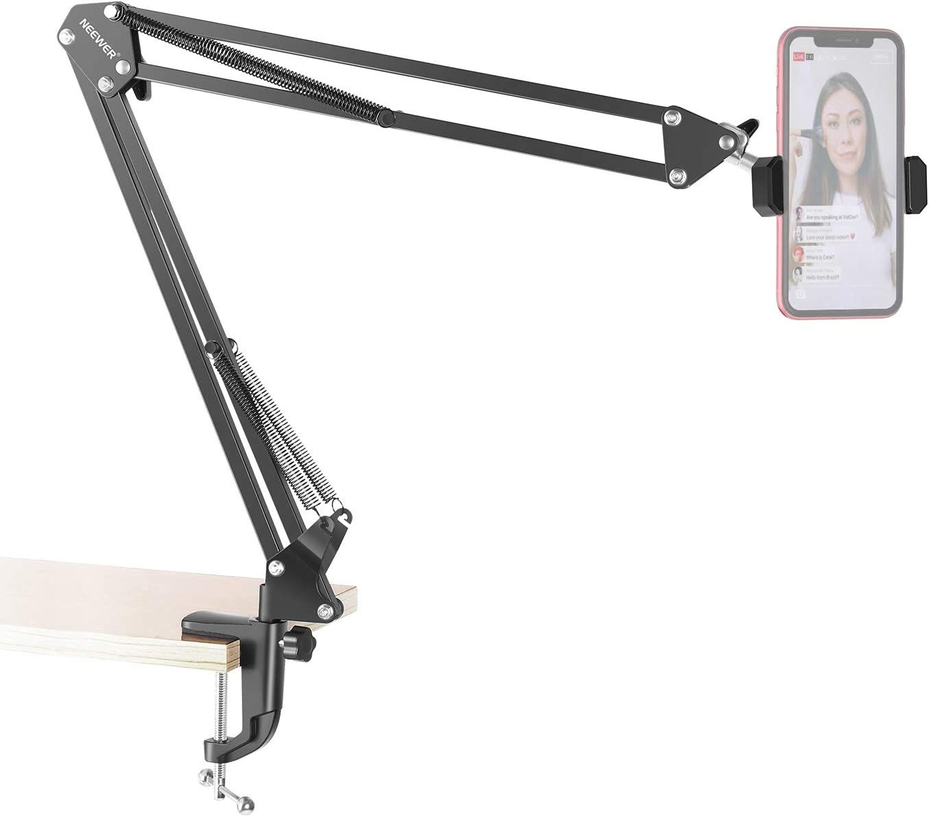 Philadelphia Mall Neewer Table Top Articulating Scissor cheap Stand 360° Rotation Arm