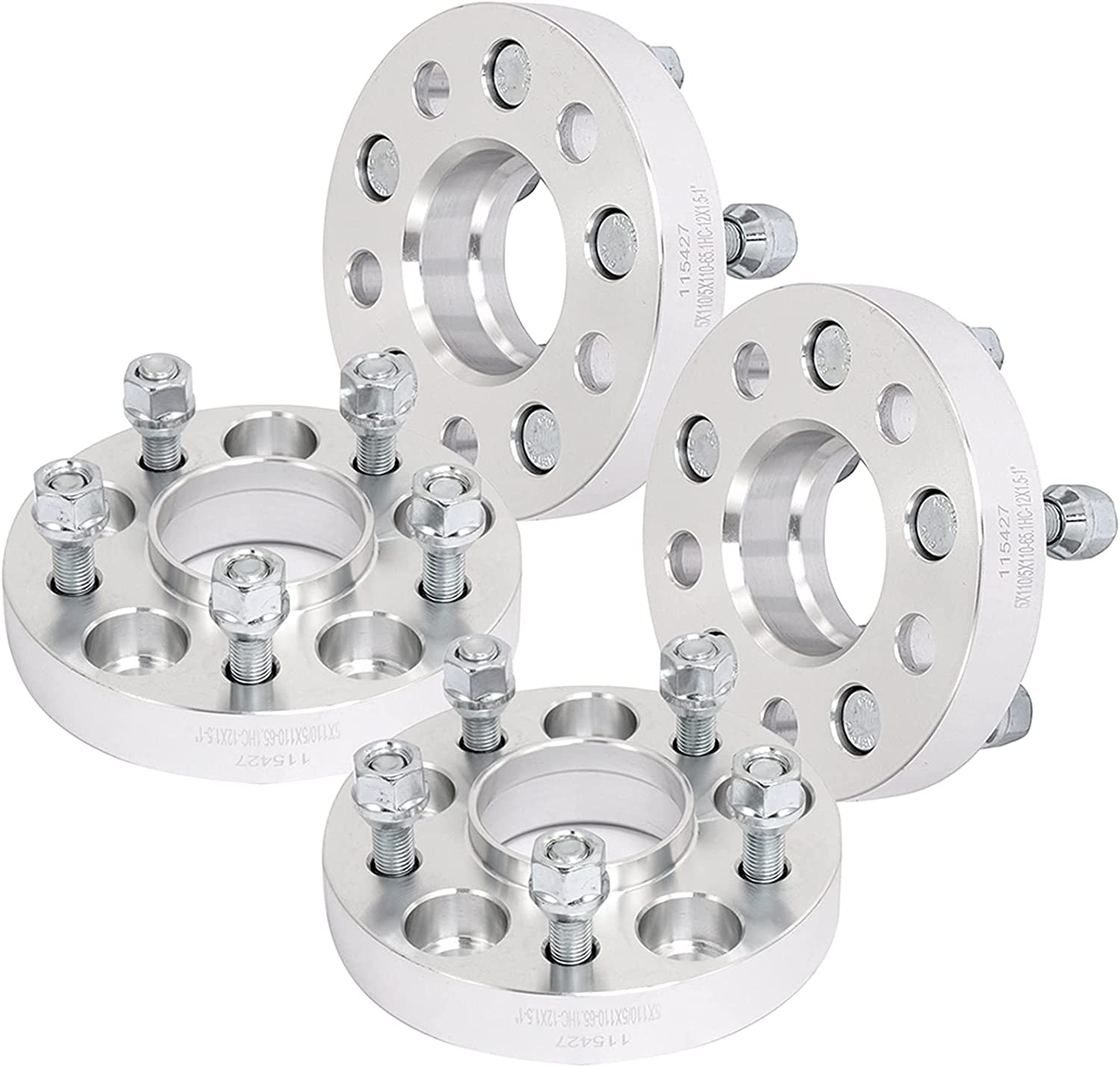 NOTUDE 4Pcs Sliver Wheel Spacer for 5lugs Minneapolis Mall 1997-2001 Latest item Catera 1 inc