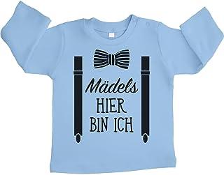 Shirtgeil Mädels, Hier Bin Ich! - Geschenk für Neugeborene Unisex Baby Langarmshirt