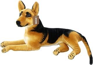JESONN Realistic Stuffed Animals German Dog Shepherd Plush Toys (23.6 Inch)