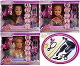 Muñecas cabeza modelo de estilo de pelo y accesorios es un mundo de chicas (los colores pueden variar)