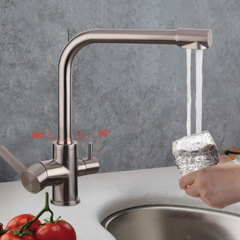 Gorheh Küchenarmaturen Mit Gefilterten Wasserhhnen Edelstahl Küchenarmatur Trinkwasser Spüle Mischer Wasserfall Wasserhhne