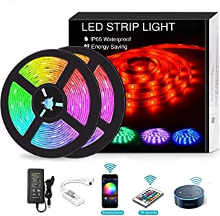 YOMYM LED Strip, LED Lights with Light Strip Kit controlled by WiFi 5050 wireless smart phone, Working with Android and iO...