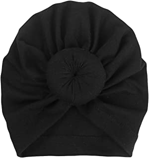 Tiean Baby Turban Cap, Toddler Boy Girl India Hat Lovely Soft Hat (Black)