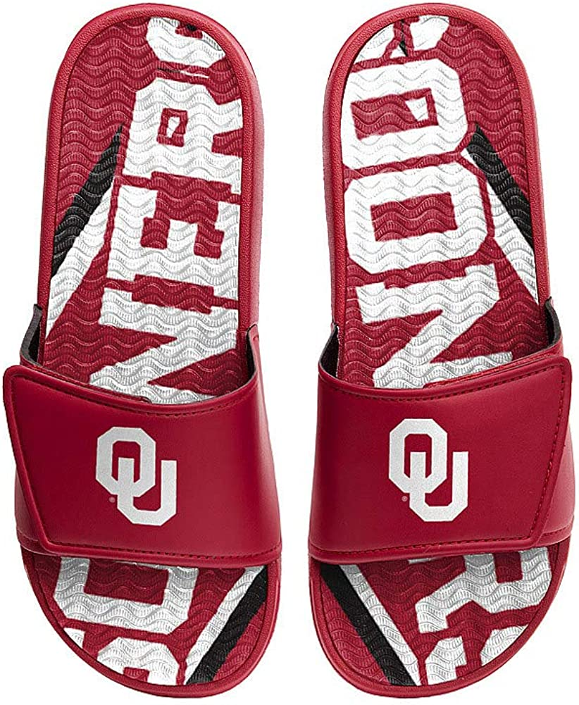Elite Fan Shop NCAA Mens Gel Slides