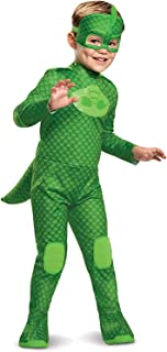 Disguise PJ Masks Gekko Costume, Deluxe Kids Light Up Jumpsuit Outfit and Character Mask, Toddler Size Extra Large (7-8) G...