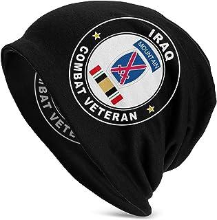 Fgbicap 10th Mountain Division Iraq Combat Veteran Operation Iraqi Freedom Knit Beanie Cap Skull Kat for Adult