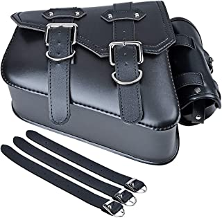 Motorcycle Solo Saddle Bag and Pannier Storage Compatible with Harley Sportster XL883 XL1200 (Left Side)