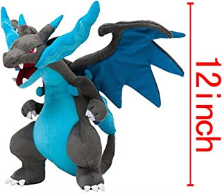 [Generic] Pokemon Mega Charizard Plush 12' Plushie Toy Blue Height:30cm/12""