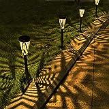 ソーラーライト 屋外 埋め込み式 防水 暖色系 LED ガーデン 玄関 階段 足元 道 壁 芝生 園芸 光センサー 夜間自動点灯 太陽光発電 常夜灯 おしゃれ 和風 4個セット LeiDrail製