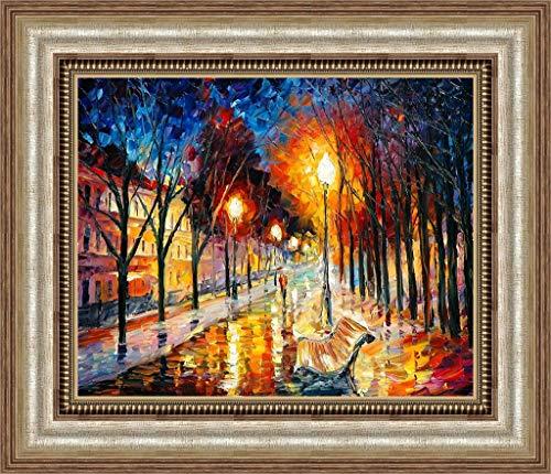 ZHQHYQHHX Moderne Ölgemälde Wohnzimmer Gemälde Hand Gemälde Dekorative Malerei Stadtpark wasserdichte Sonnenschutz 50 * 70 (cm) Hängende Malerei
