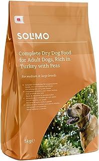 Marca Amazon - Solimo - Alimento seco completo para perro adulto rico en pavo con guisantes, 1 Pack de 5 kg
