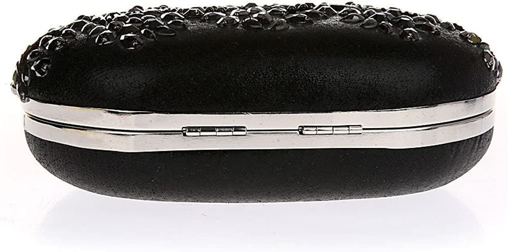 Women Retro Sequin Pearl Beaded Party Oval Evening Bag
