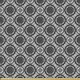 ABAKUHAUS Grau Microfaser Stoff als Meterware, Abstrakte