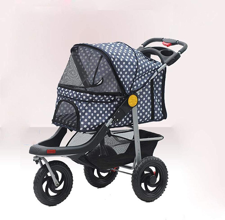 Axiba Pet Stroller Cart tricycle Dog cart Single trolley Pet Supplies
