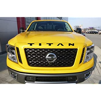 SF Sales USA Red Grille//Hood Letters for Titan 2016-Up Front Inserts Not Decals