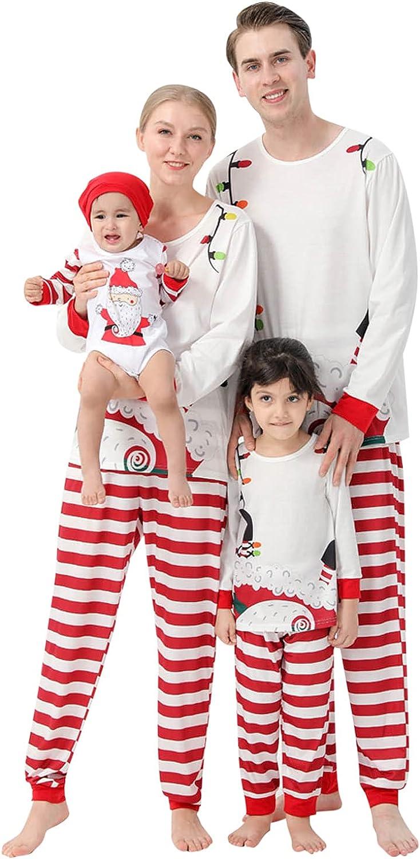 Family Matching Pajamas Christmas Jammies Clothes Cotton Holiday Sleepwear Sets Long Sleeve Pjs
