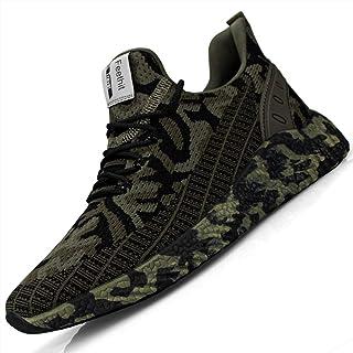Feethit, scarpe da ginnastica da uomo, scarpe da corsa, scarpe sportive, sneaker con suola in gomma antiscivolo, leggere e...
