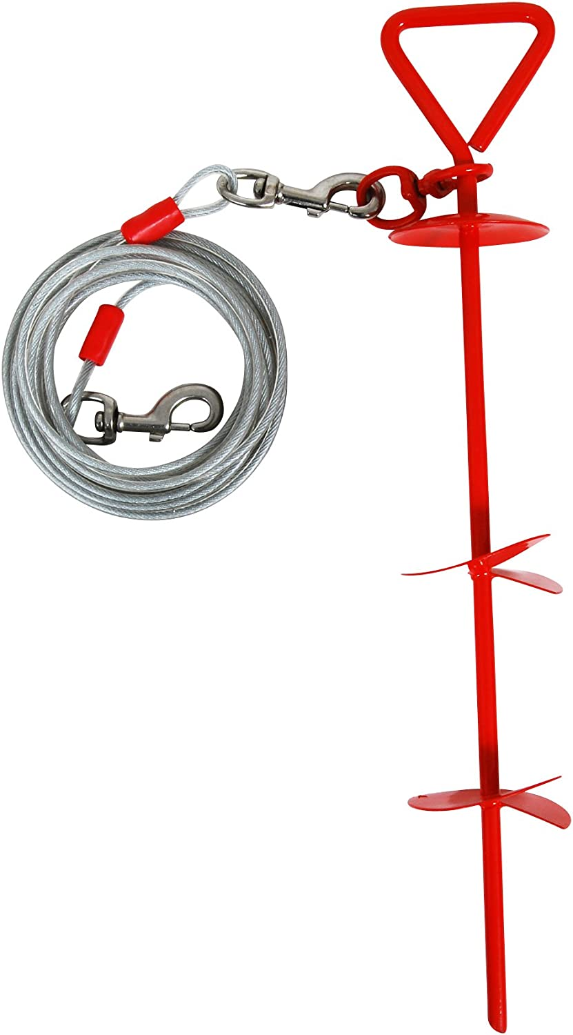 Cider Mills Petmate Super Dog Stake with 20Feet of 4200Pound Cable